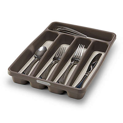 madesmart® 5-Compartment Mini Cutlery Tray in Grey