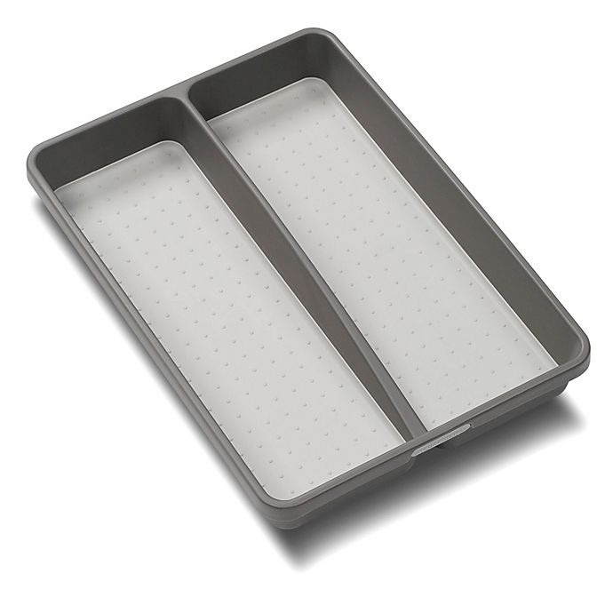Alternate image 1 for madesmart® 2-Compartment Mini Utensil Tray in Grey
