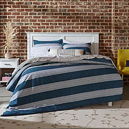 Novogratz Pippa 3-Piece Reversible King Comforter Set in Navy