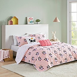 Urban Habitat Kids Piper Cotton Reversible Coverlet Set in Blush