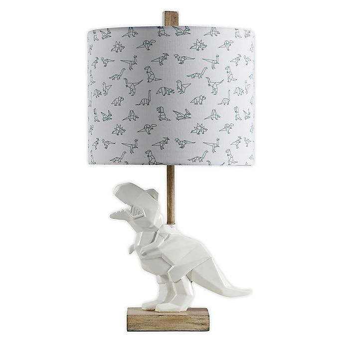 Alternate image 1 for StyleCraft White Poly Resin Lighting Table Lamp with Fabric Shade