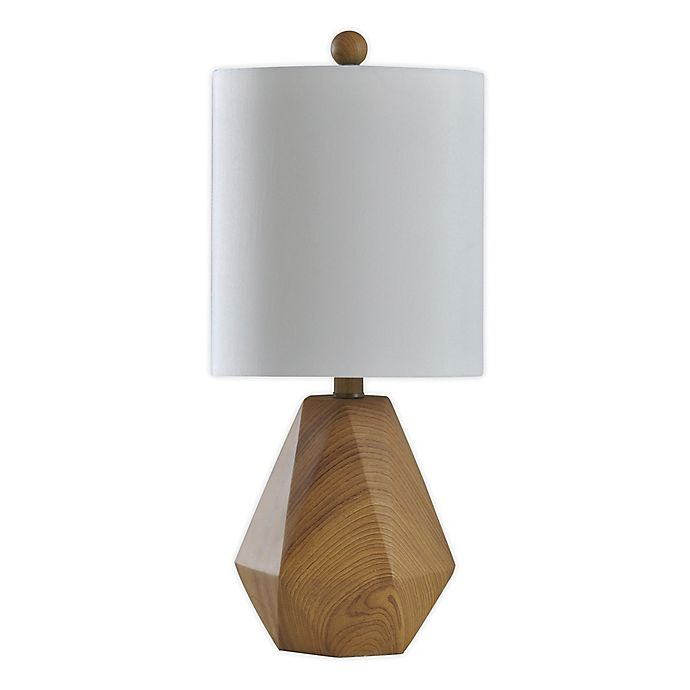 Alternate image 1 for StyleCraft William Table Lamp in Natural with Fabric Shade