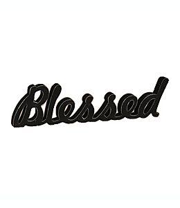 "Adorno para mesa ""Blessed"" SIXTREES™ de 15.24 x 55.88 cm en negro"