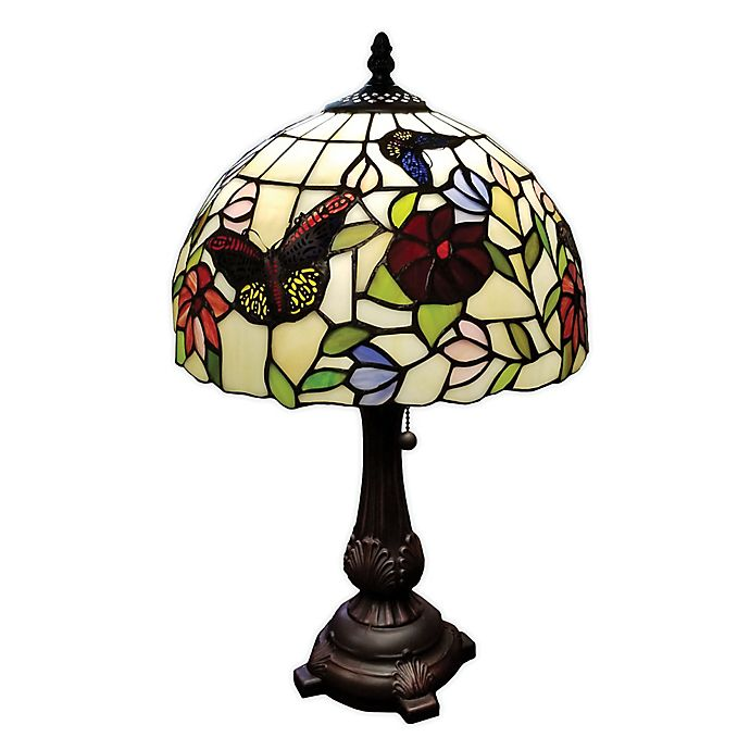 Alternate image 1 for Tiffany Style Butterflies Table Lamp