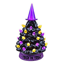 Mr. Halloween Mini LED Vintage Witch Hat Tree Decoration in Black