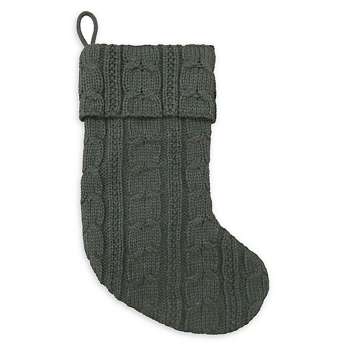 Alternate image 1 for Bee & Willow™ Home Knit Stocking in Grey/Green