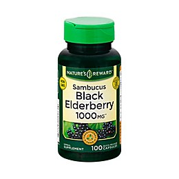 Nature's Reward 100-Count 1000 mg Sambucus Black Elderberry Quick Release Capsules
