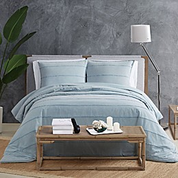 Sean Jean® Tufted Stonewash Piece Duvet Cover Set in Blue