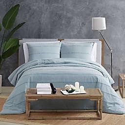 Sean Jean® Tufted Stonewash Piece Duvet Cover Set in Blue