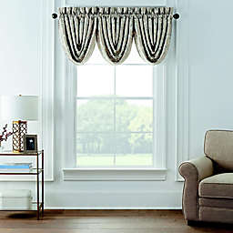 Waterford® Andria Waterfall Valances in Taupe (Set of 3)