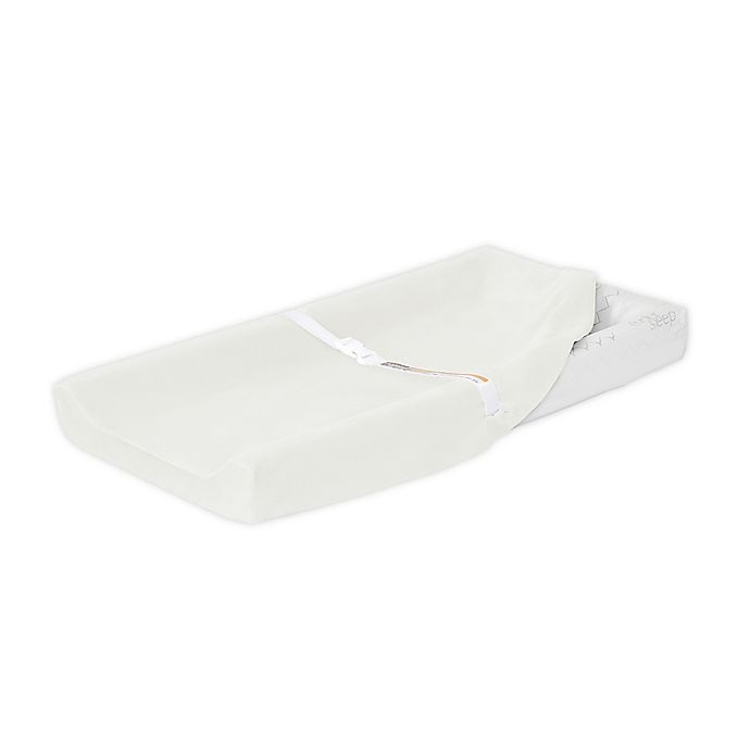 Alternate image 1 for évolur 3-Sided Contour Changing Pad in White with 2 Cotton Covers