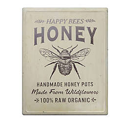 """Bee & Willow™ 18-Inch x 14-Inch Vintage """"Honey"""" Metal Sign in Distressed Cream"""