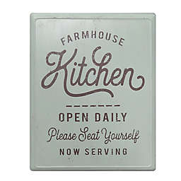 "Bee & Willow™ 18-Inch x 14-Inch Vintage ""Kitchen"" Metal Sign in Sage"