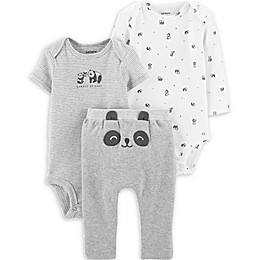 carter's® 3-Piece Panda Bodysuits and Pant Set