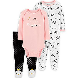 carter's® 3-Piece Swans Take Me Home Set in Pink