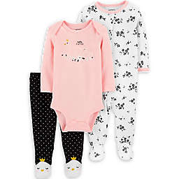 carter's® Size 6M 3-Piece Swans Take Me Home Set in Pink