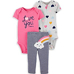 carter's® 3-Piece Little Character Love You More Set in Rainbow