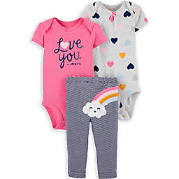 carter's® SIze 3M 3-Piece Little Character Love You More Set in Rainbow
