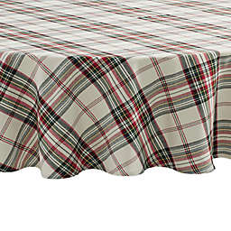 Bee & Willow™ Home Tartan 70-Inch Round Tablecloth in Ivory