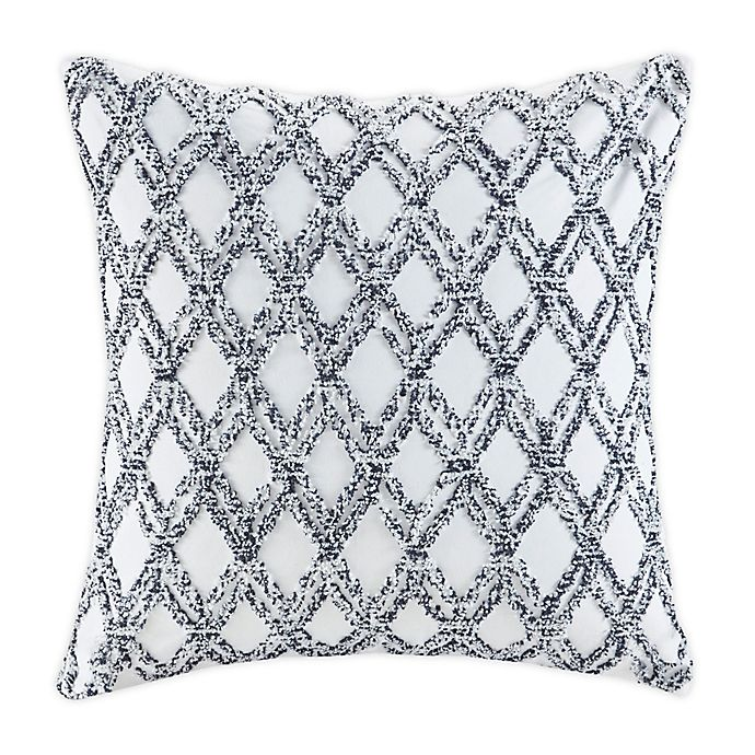 Alternate image 1 for INK+IVY Riko Cotton Embroidered Square Pillow in Navy