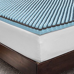 "SensorPEDIC Sensorwell 2.5"" Charcoal-Infused Memory Foam Mattress Topper"