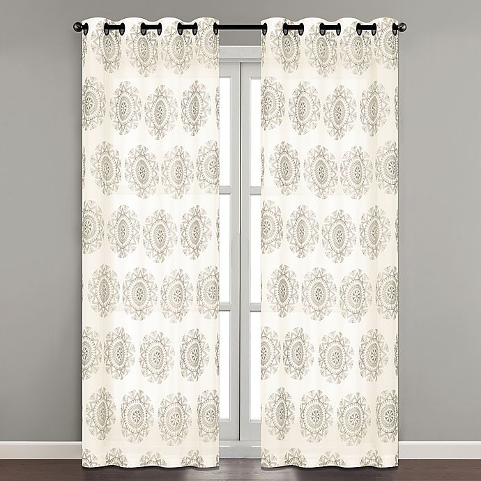 Alternate image 1 for Simone Embroidered 84-Inch Grommet Sheer Window Curtain Panel