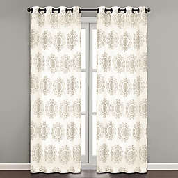 Simone Embroidered 84-Inch Grommet Sheer Window Curtain Panel