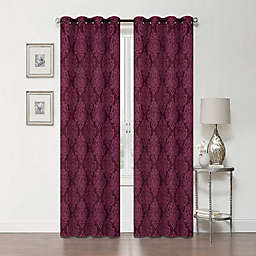 Delaney 84-Inch Grommet Blackout Window Curtain Panel in Burgundy