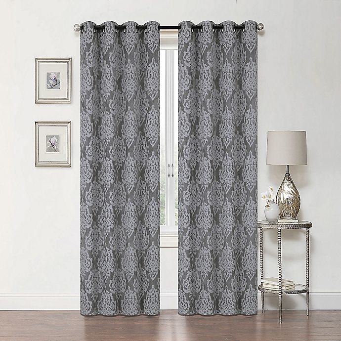 Alternate image 1 for Delaney 84-Inch Grommet Blackout Window Curtain Panel in Grey