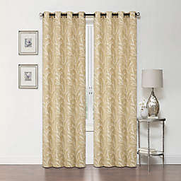 Arbor 84-Inch Grommet Blackout Window Curtain Panel in Gold
