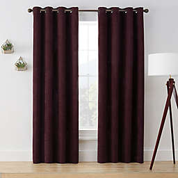 Brookstone® Marco 108-Inch Grommet Room Darkening Window Curtain Panel in Purple