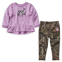 Carhartt® 2-Piece French Terry Tunic and Legging Set in Mossy Oak