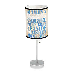 Monterey Bay Table Lamp with Silver Finish Base