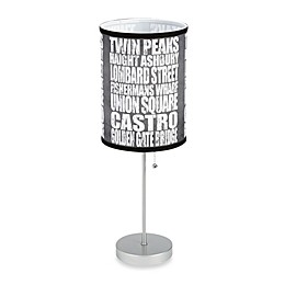 San Francisco Attractions Table Lamp with Silver Finish Base
