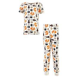 Hudson Baby® 2-Piece Short Sleeve Cotton Pajama Set