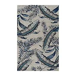 Havana Tropics 2'3 x 8'  Runner Rug in Grey