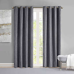 Madison Park Arcadia 84-Inch Grommet Crinkle Matte Satin Panel in Purple