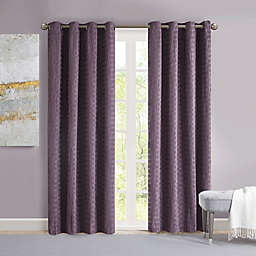 Madison Park Arcadia 95-Inch Grommet Crinkle Matte Satin Panel in Purple