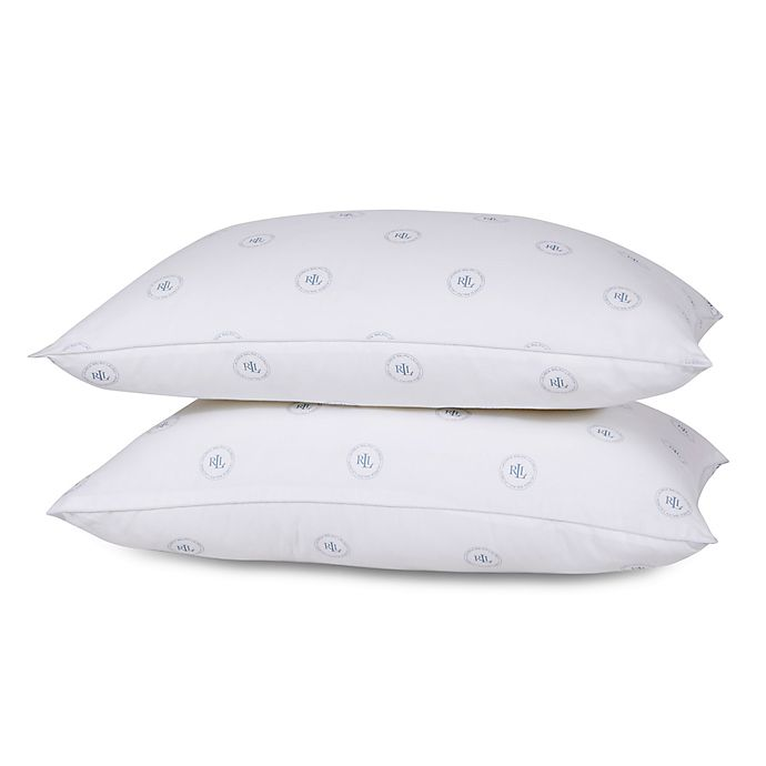Alternate image 1 for Lauren Ralph Lauren 2-Pack Medium Support Standard/Queen Pillows