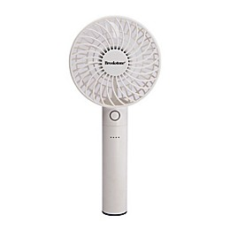 Brookstone® 4-Inch Rechargeable Mini Fan with Power Bank in White