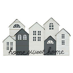 Home Sweet Home 26-Inch x 13-Inch Die-Cut Wall Art in White/Grey