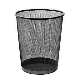 Seville Classics® Mesh Metal 6-Gallon Wastebasket in Black