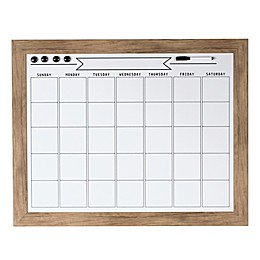 Kate and Laurel Beatrice Dry-Erase Monthly Calendar in Rustic Brown