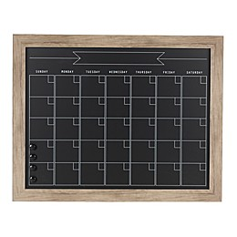Kate and Laurel Beatrice Chalkboard Monthly Calendar in Rustic Brown