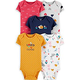 carter's® 5-Pack Loved By Everyone Short Sleeve Bodysuits