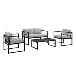 Hamilton 4-Piece Conversation Set in Grey/Black