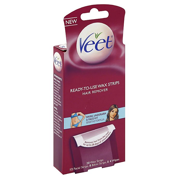 Veet 20 Count Ready To Use Wax Hair Removal Strips Bed Bath