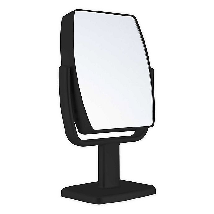 Alternate image 1 for Zadro® GEO 5X/1X Dual-Sided Acrylic Vanity Mirror in Black