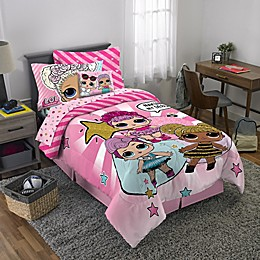 LOL Surprise! 3-Piece Reversible Twin/Full Comforter Set in Pink