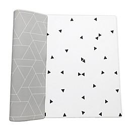 Ofie Mat by Little Bot Reversible Foam Playmat in Zen Line/Triangle